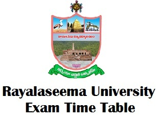 Rayalaseema University Timetable 2018