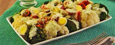 Salada com molho verde