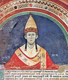 Pope Innocent III in fanon