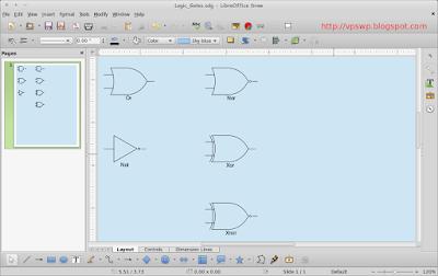 Cara Menggambar Gerbang Logika Pakai LibreOffice Draw