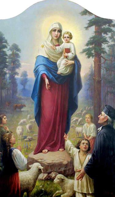 Quadro representando a aparição de Nossa Senhora em Siluva