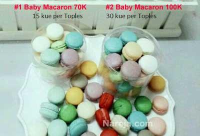 Baby macaron toples isi 15 dan 30