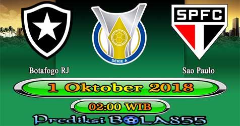 Prediksi Bola855 Botafogo RJ vs Sao Paulo 1 Oktober 2018