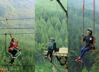 Wahana menantang adrenaline di The Lodge Maribaya