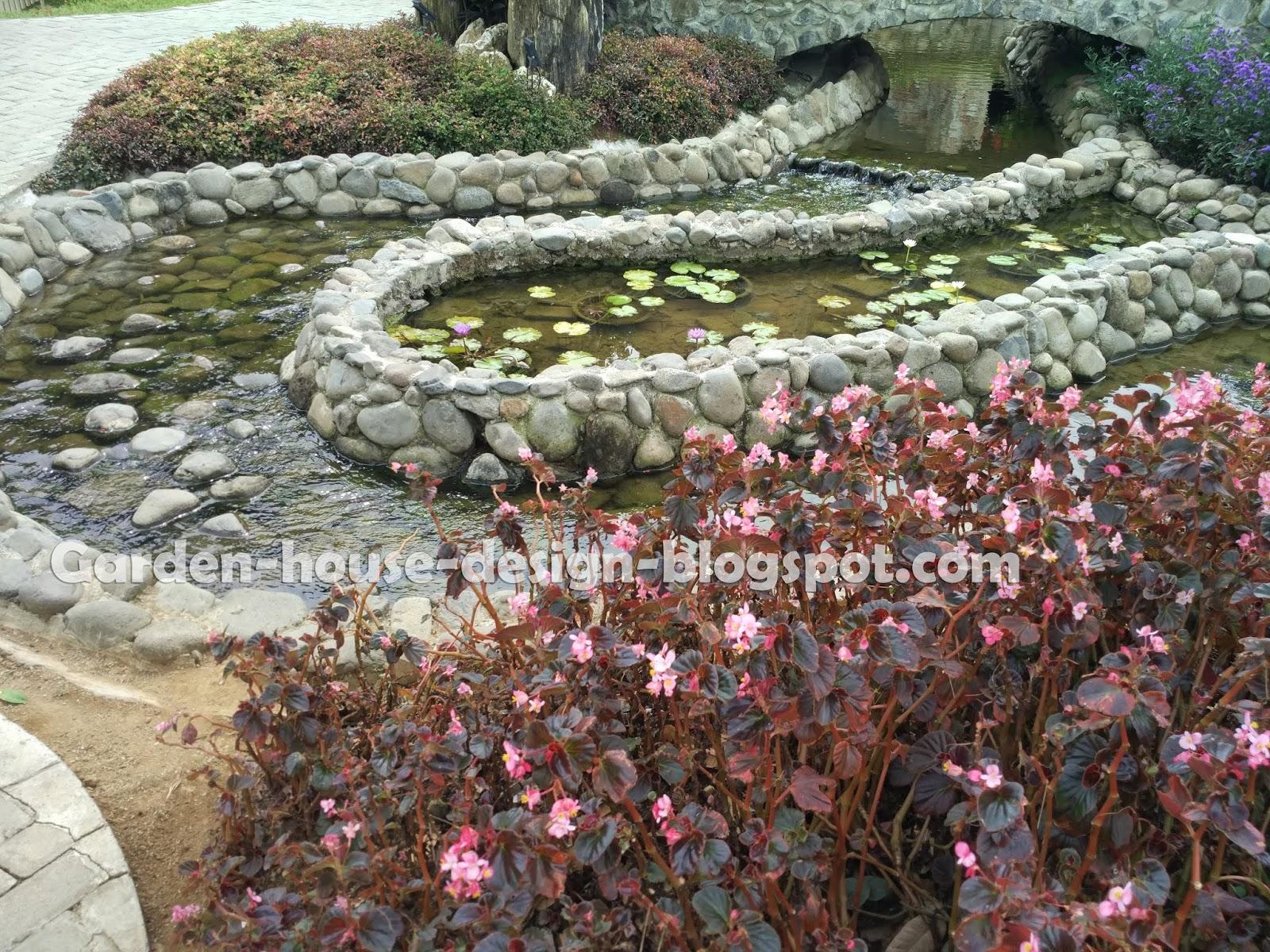 Backyard stream design for tropical garden house