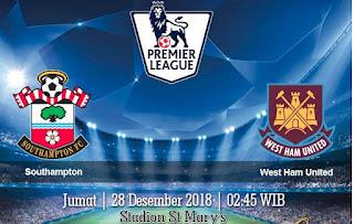 Prediksi Southampton Vs West Ham United 28 Desember 2018