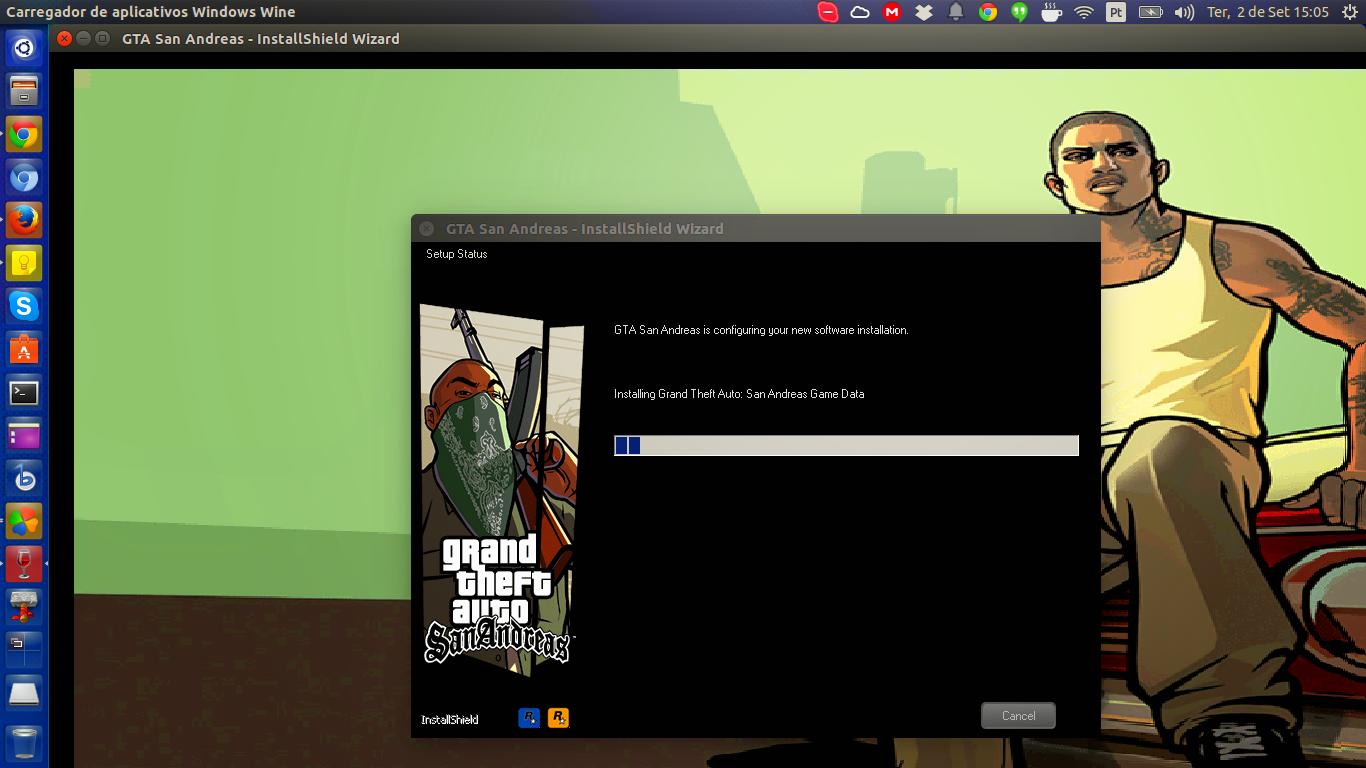 Instalando GTA San Andreas no Ubuntu com Wine
