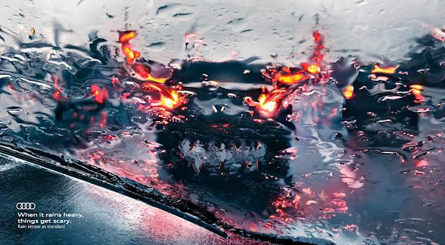 """Audi-sensor-de-lluvia-campaña-seguridad-vial-Cuando-llueve-fuerte-las-cosas-se-vuelven-terroríficas"""""""