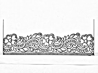Saree ka kinara drawing for hand embroidery design