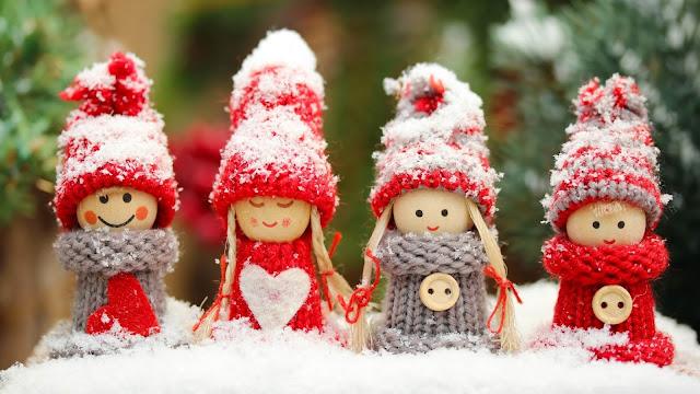 Meisjes in de sneeuw
