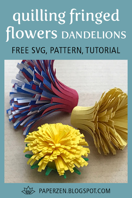 Quilling Fringed Flower #1: Dandelion Tutorial and Pattern