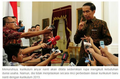 gambar Jokowi Panggil Mendikbud, Bahas Kurikulum Baru