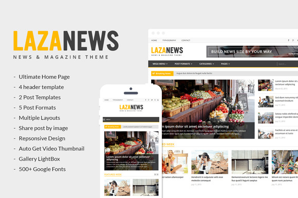 Free Download LazaNews V1.0 News, Magazine, Newspaper Wordpress Theme