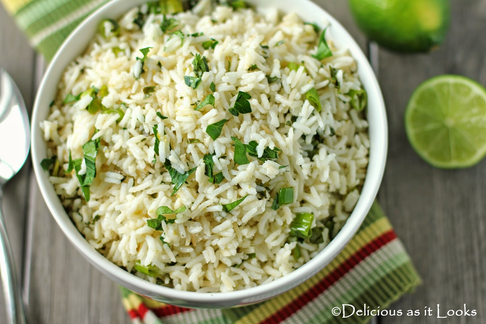 Low-FODMAP Cilantro Lime Rice  /  Delicious as it Looks