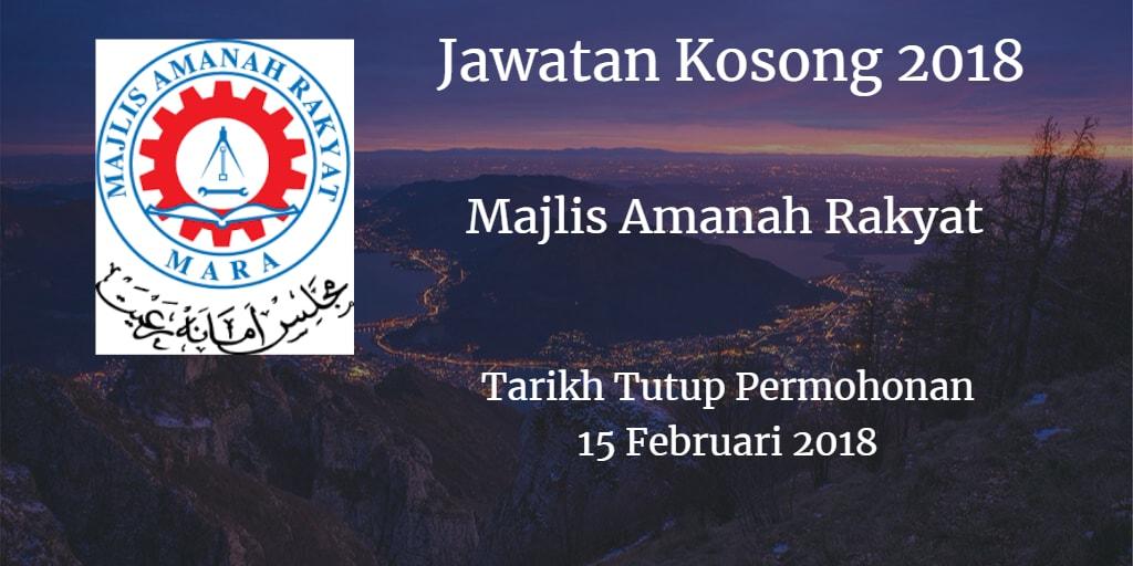 Jawatan Kosong MARA 15 Februari 2018