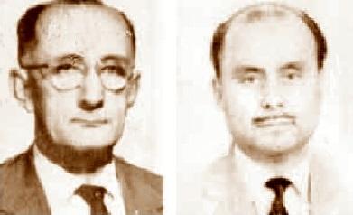 Los ajedrecistas Joaquín Gil Daniel y Enric Catalán Homedes