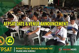 AFPSAT Schedule CY 2019 | Visayas Area