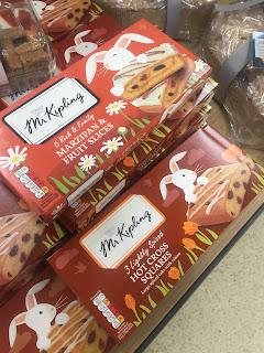 Mr Kipling Marzipan Fruit Slices & Hot Cross Squares