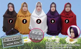 Jilbab instan terbaru spandek balon modelnya terkini