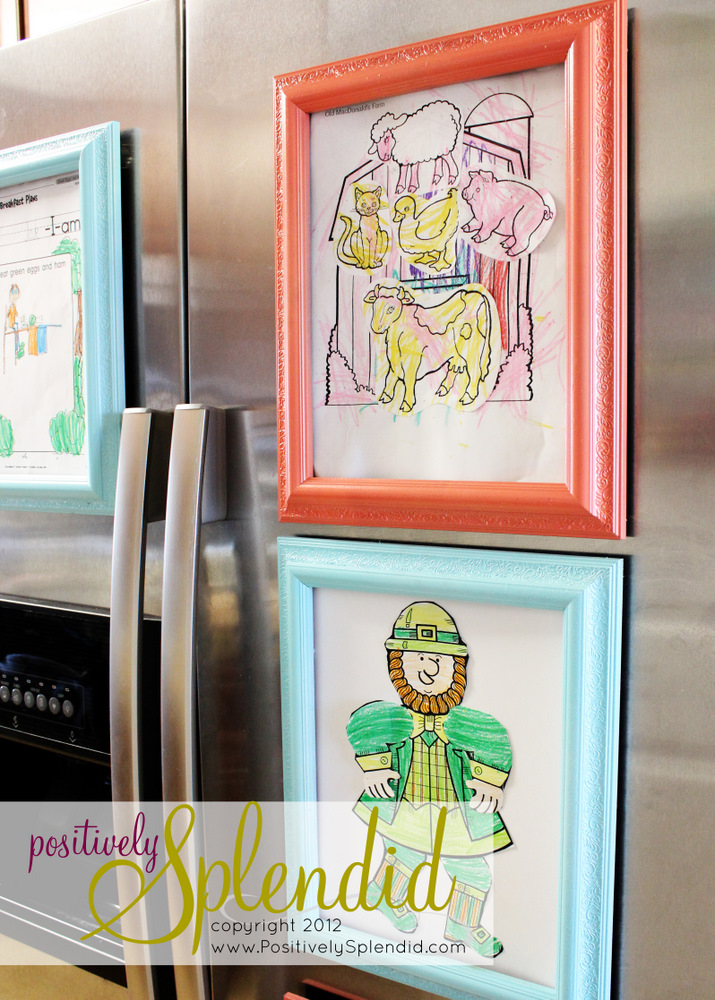 Magnetic Refrigerator Art Frames Positively Splendid
