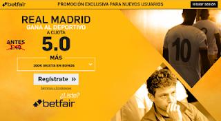 betfair supercuota 5 Real Madrid gana Deportivo Liga 26 abril
