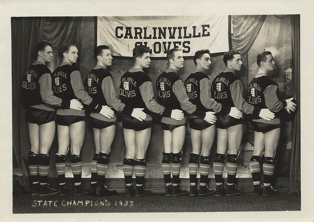 carlinville gloves state champions illinois 1937 vintage everyday