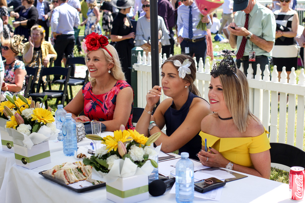 Julia Zass and other judges of Fashions on the Field at Ballarat Cup 2016