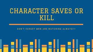Character counts and can kill or save