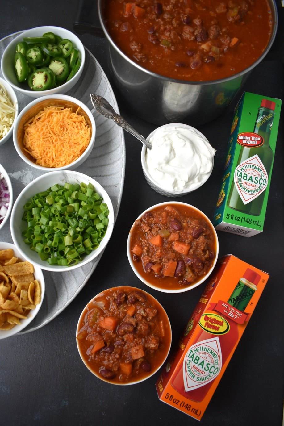 Make your own chili bar