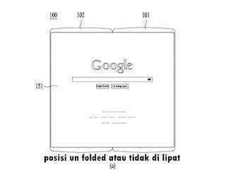 Tablet lipat LG dalam keadaan tidak dilipat
