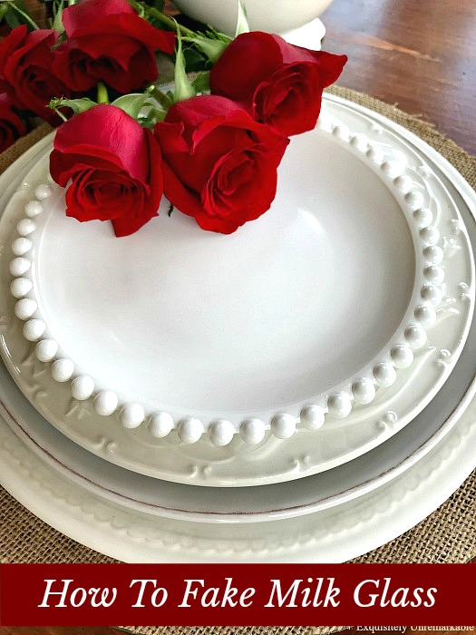 How To Fake Milk Glass