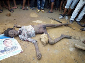 Flying Bird Transforms Into Human After Electrocution in Port Harcourt (Photos)