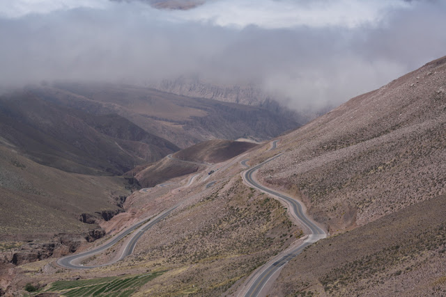 switchbacks road to salt flats argentina