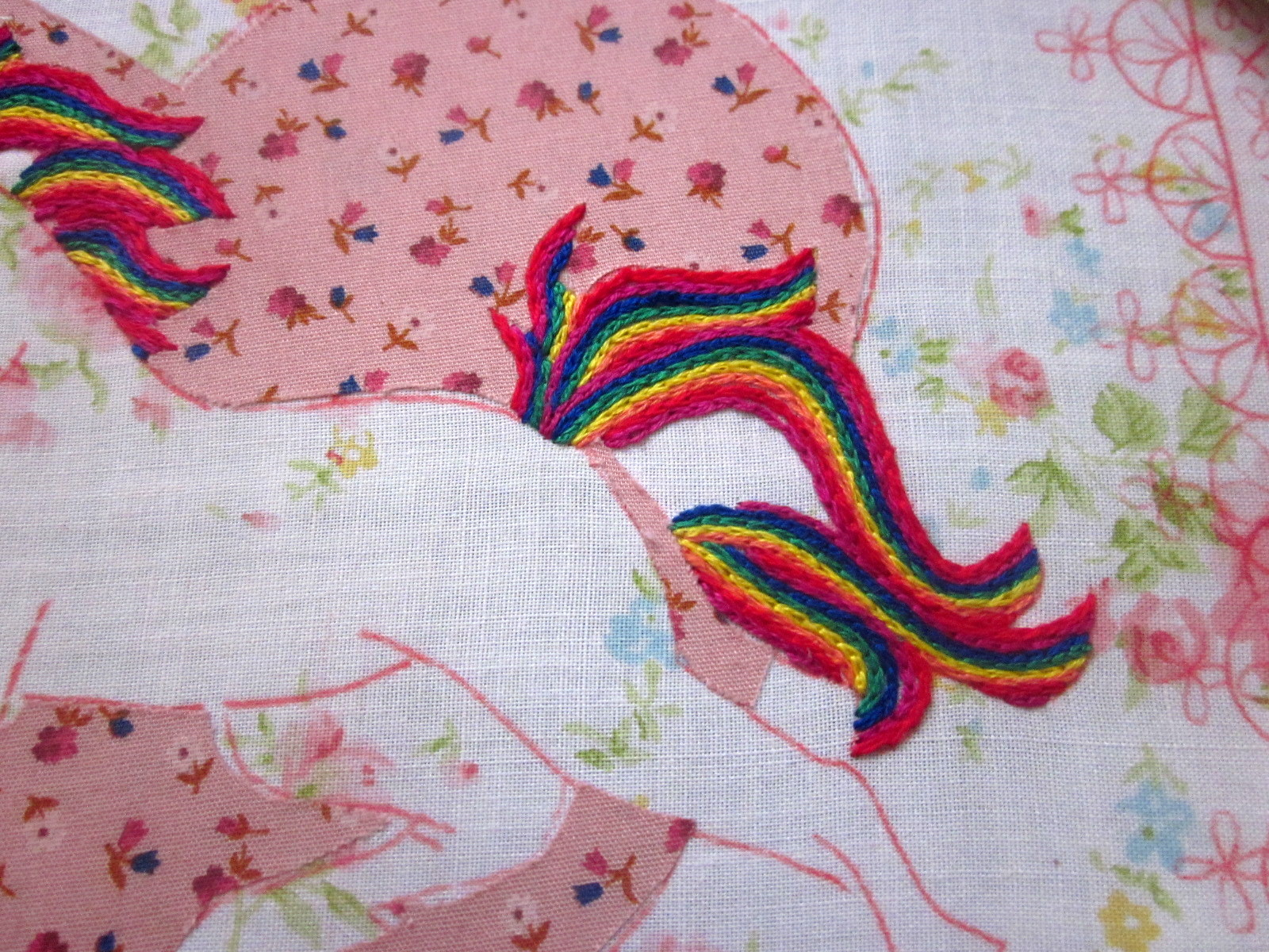 Geekysweetheart Unicorn Embroidery Finished Kinda And