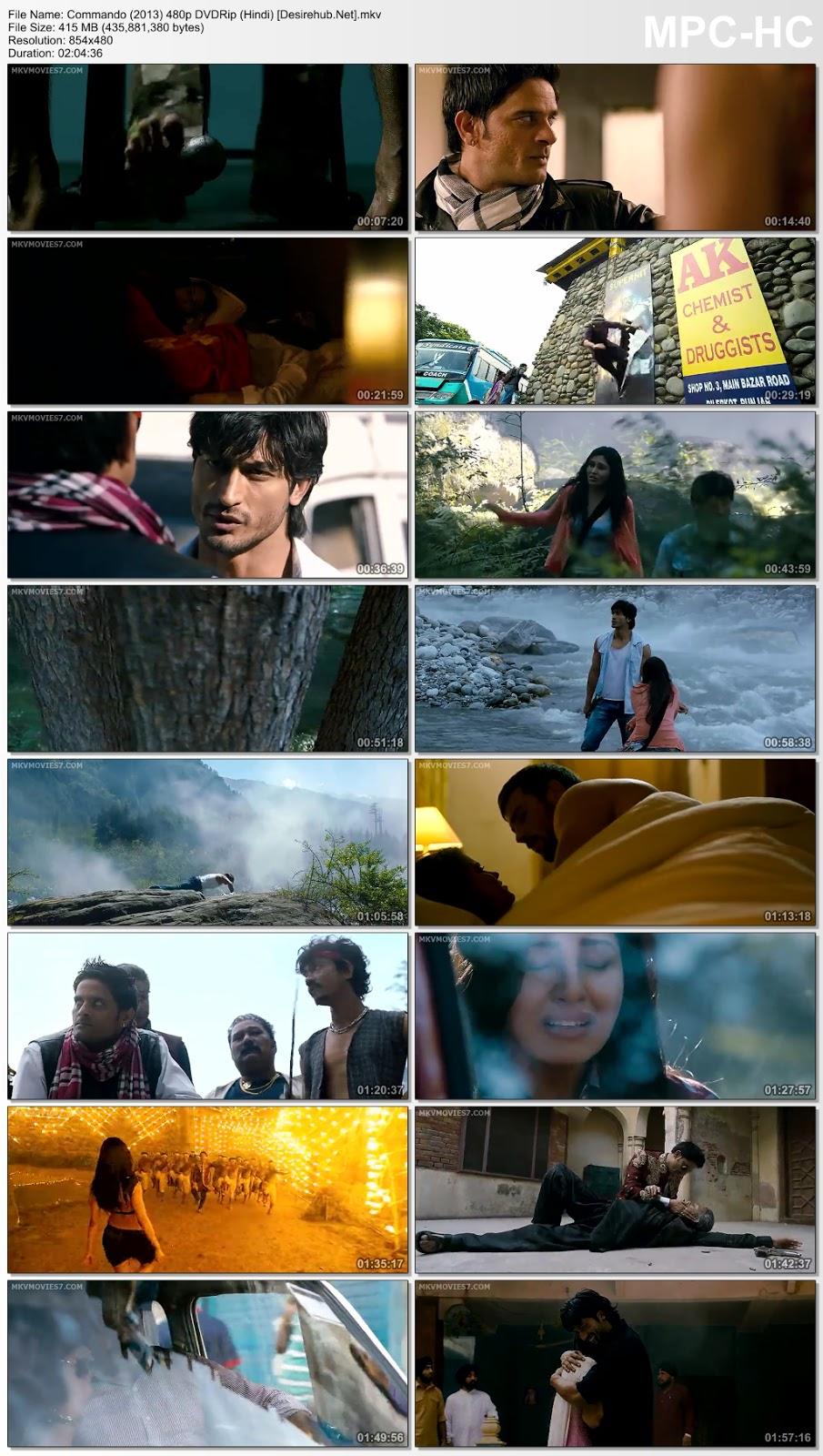Commando (2013) 480p DVDRip (Hindi) – 400MB Desirehub