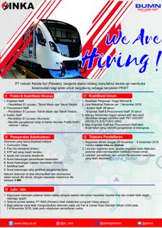 Lowongan Kerja BUMN Terbaru PT Industri Kereta Api (Persero)