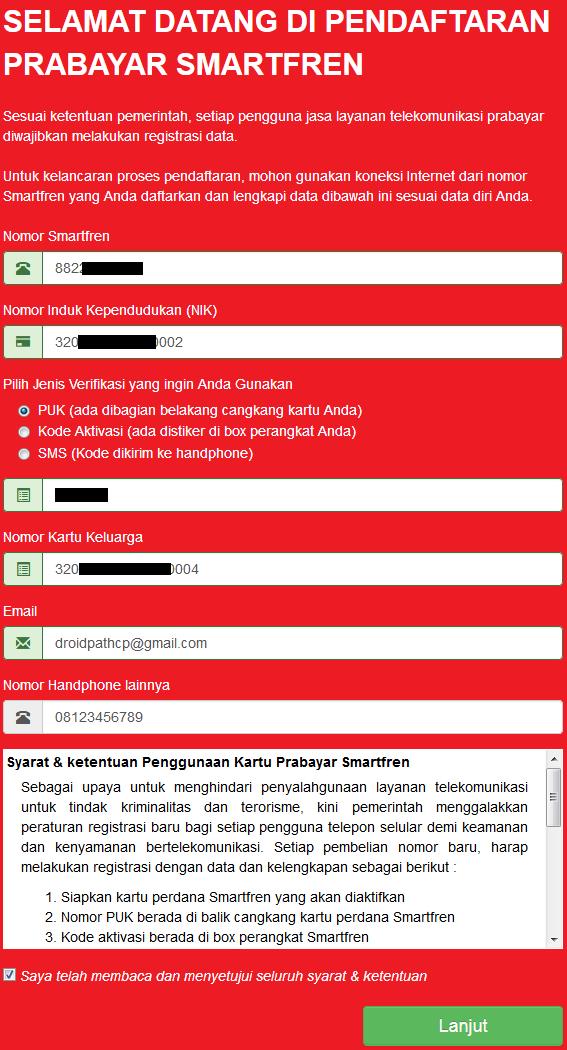Registrasi Ulang Smartfren Online