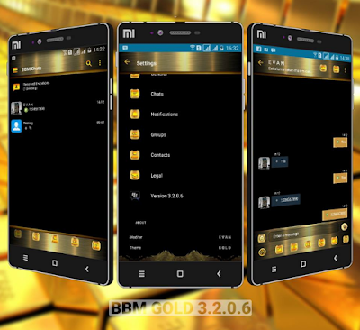 BBM Mod Gold Theme v3.2.0.6 Apk Terbaru