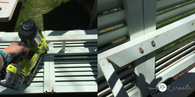 attaching shelf support to shutters