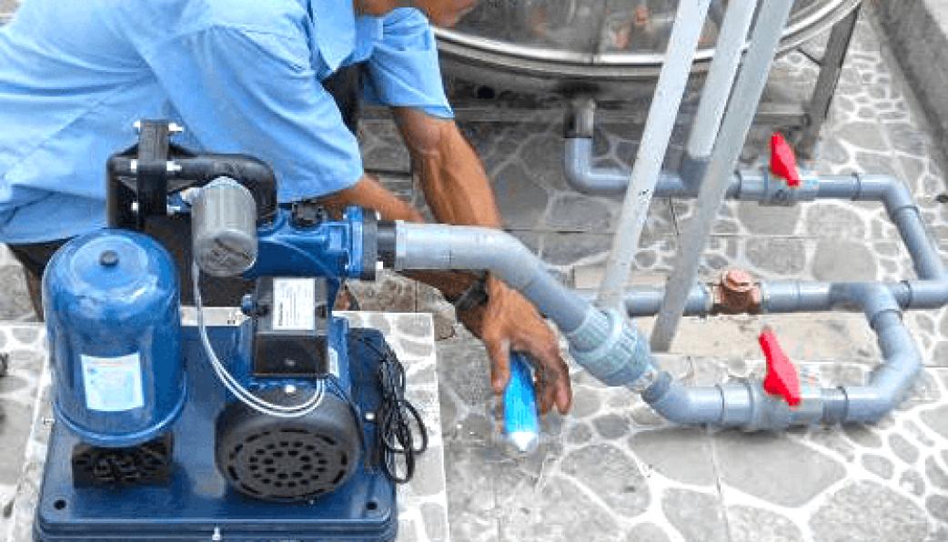 lắp đặt máy bơm nước giếng khoan gia đình