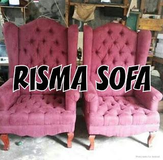 ganti kain sofa wing chair