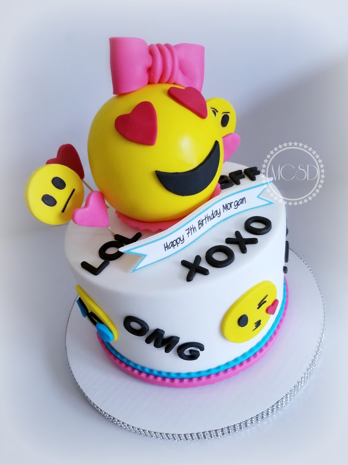 My Cake Sweet Dreams Emoji Birthday Cake