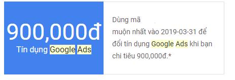 Chia sẻ mã tín dụng Adwords 900k