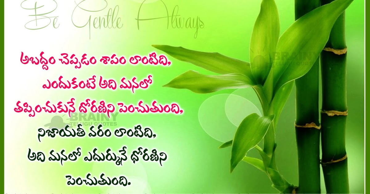 difference between true and false telugu inspirational