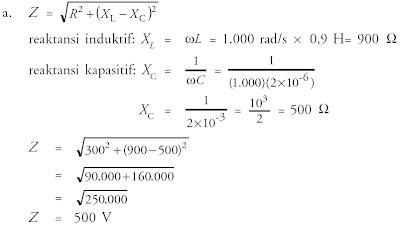 impedansi rangkaian induktif kapasitif