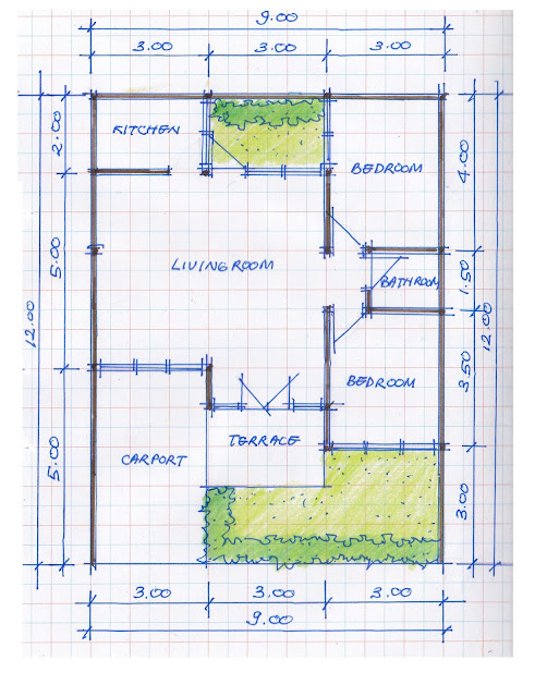 layout of house plan A-13b
