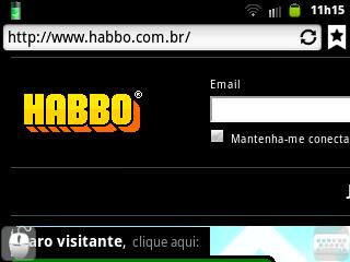 Página inicial Habbo BR/PT
