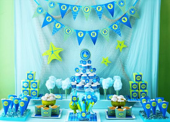 Kalliopelp decoraci n de fiesta infantil en la playa y - Decoracion de fiestas de cumpleanos infantiles ...