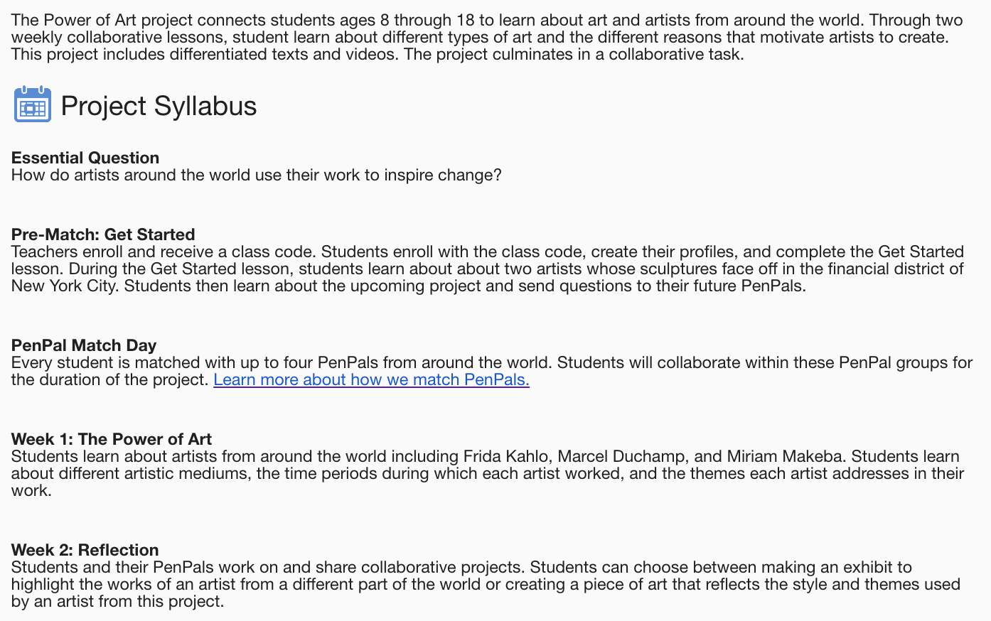 Collaborative Global Projects: Project Based Learning With Pen Pals