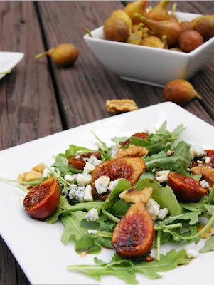 Marinated Fig and Arugula Salad Recipe
